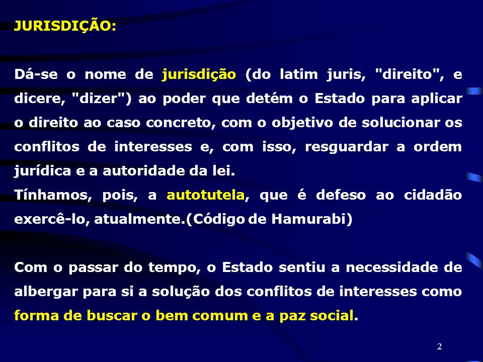 JURISDIÇÃO: