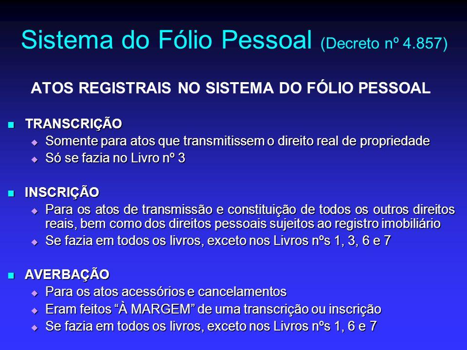 Sistema do Fólio Pessoal (Decreto nº 4.857)