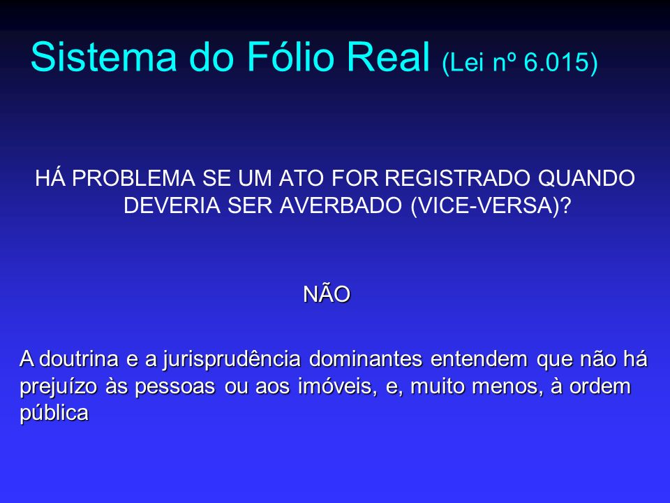 Sistema do Fólio Real (Lei nº 6.015)