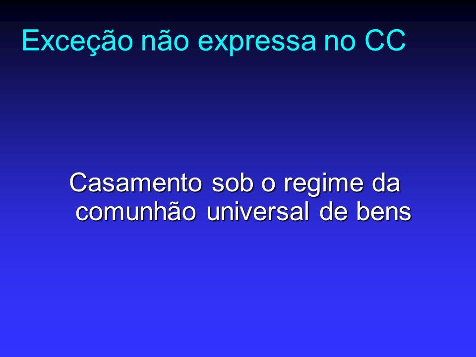 Exceção não expressa no CC