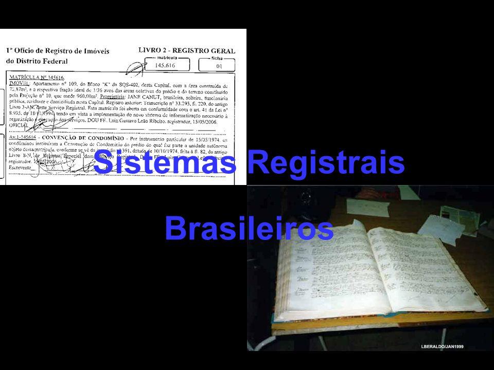 Sistemas Registrais Brasileiros