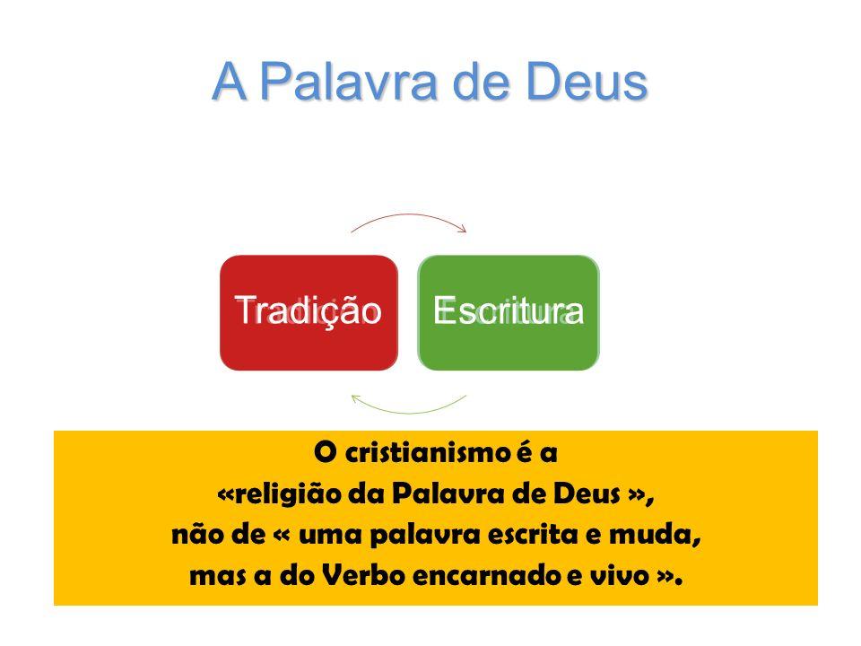 A Palavra de Deus Tradición Escritura Tradição Escritura