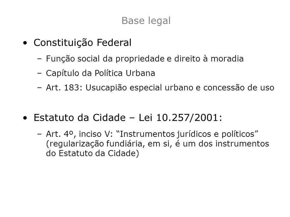 Estatuto da Cidade – Lei 10.257/2001:
