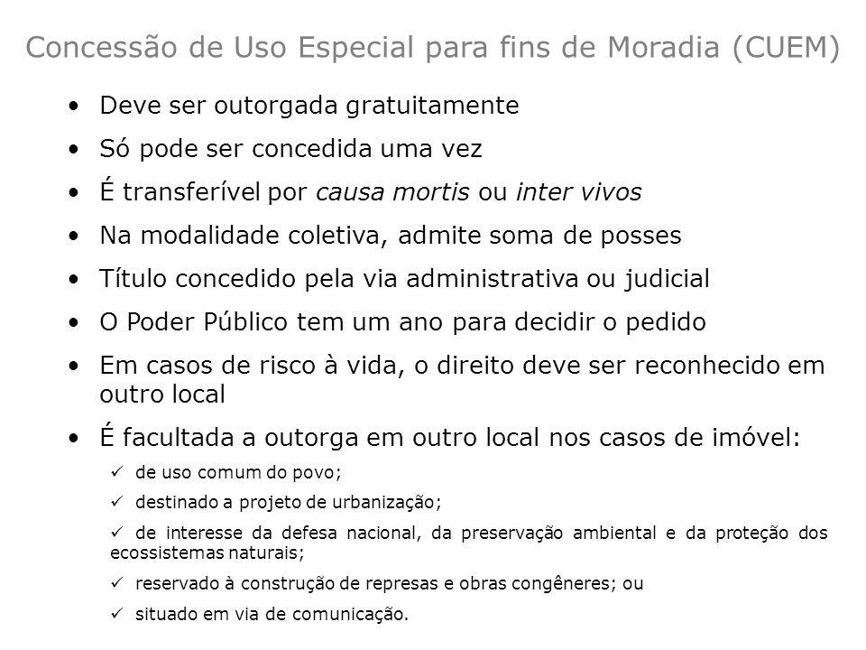 Concessão de Uso Especial para fins de Moradia (CUEM)