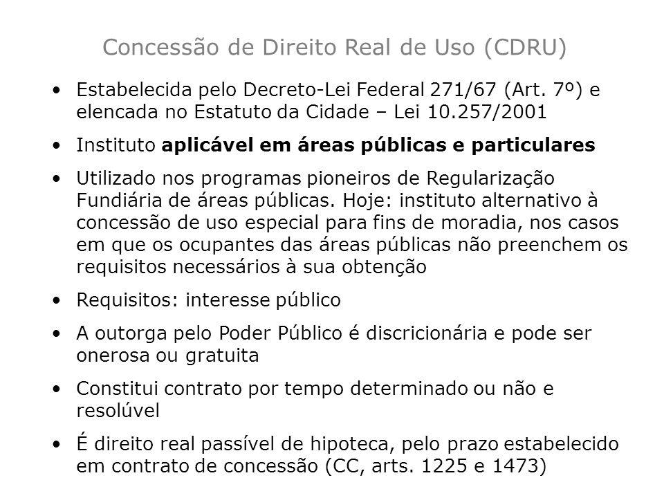 Concessão de Direito Real de Uso (CDRU)