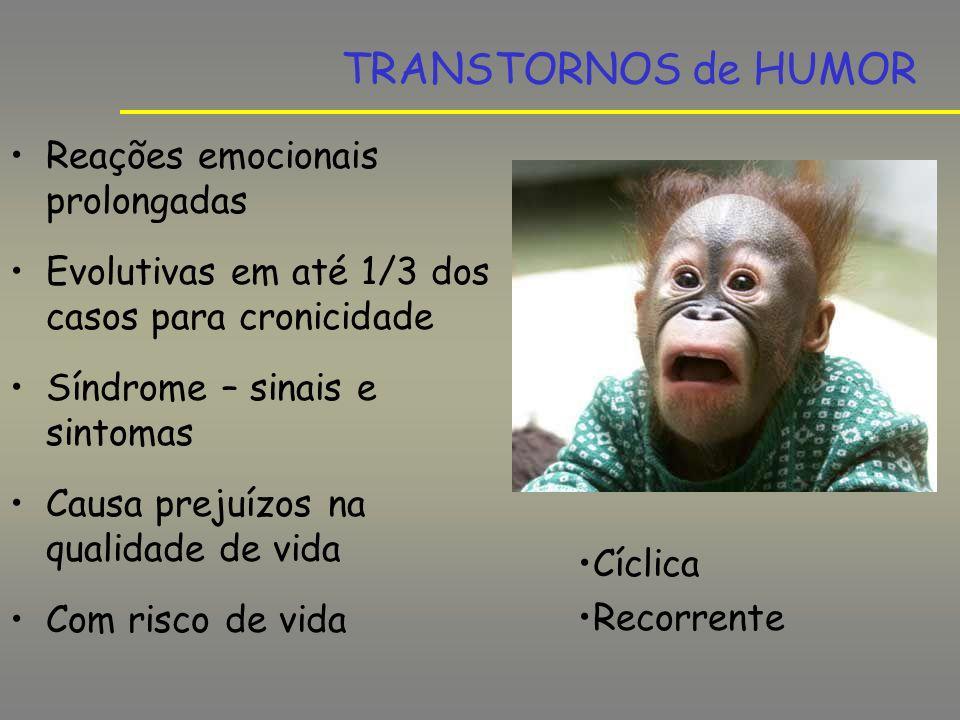 TRANSTORNOS de HUMOR Reações emocionais prolongadas