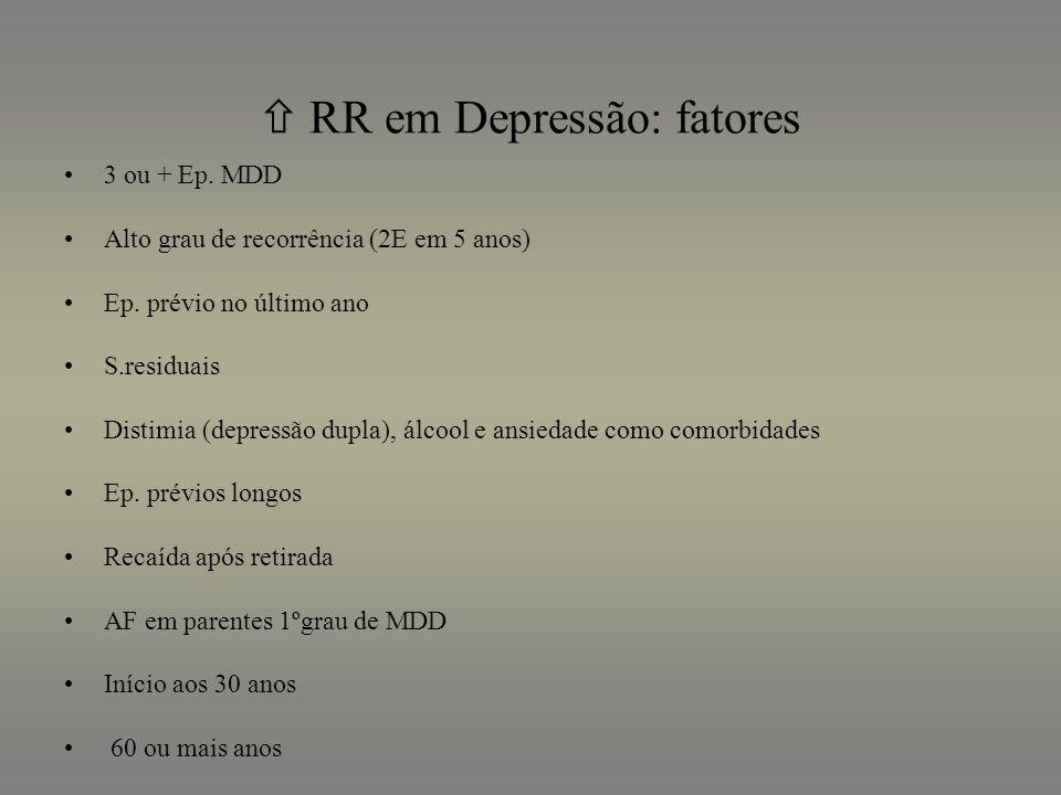  RR em Depressão: fatores