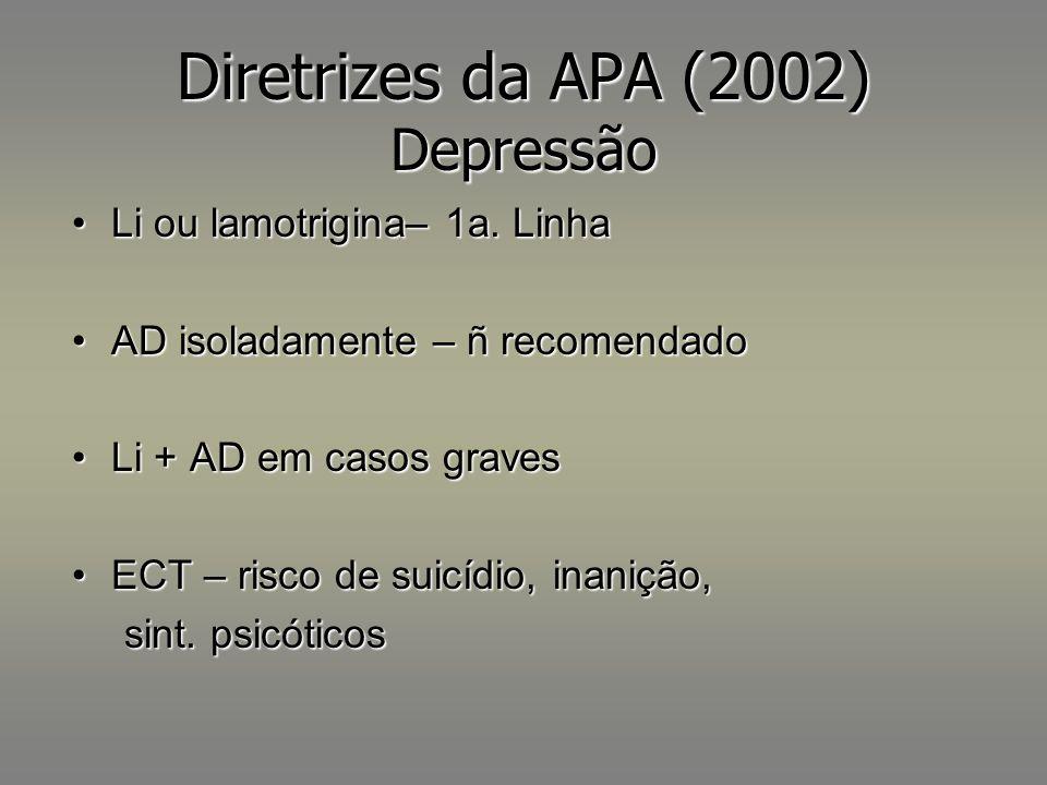 Diretrizes da APA (2002) Depressão