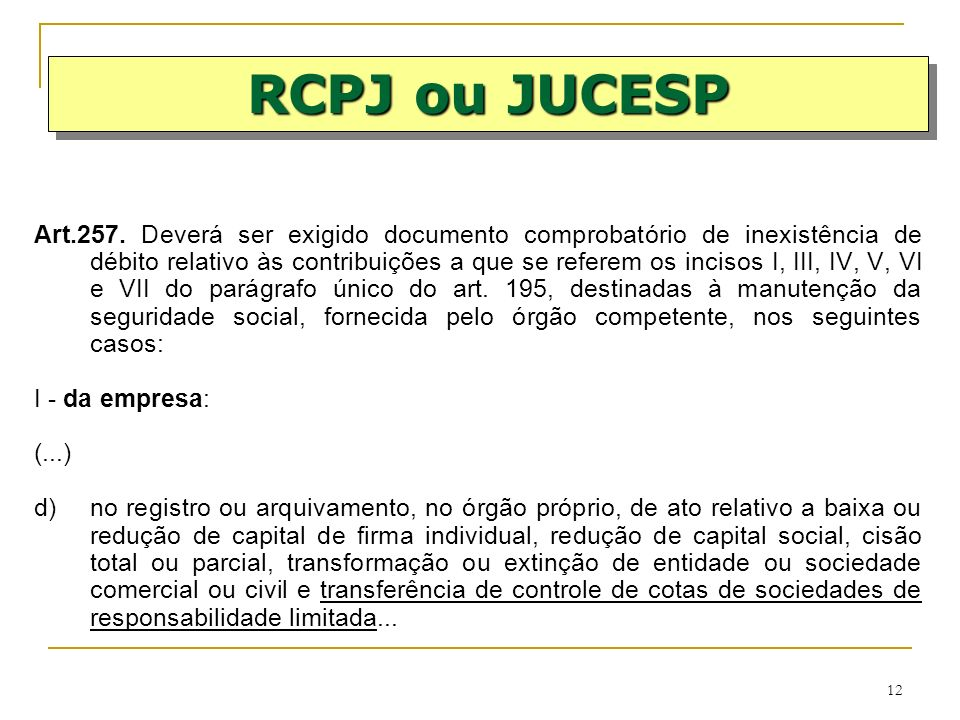 RCPJ ou JUCESP