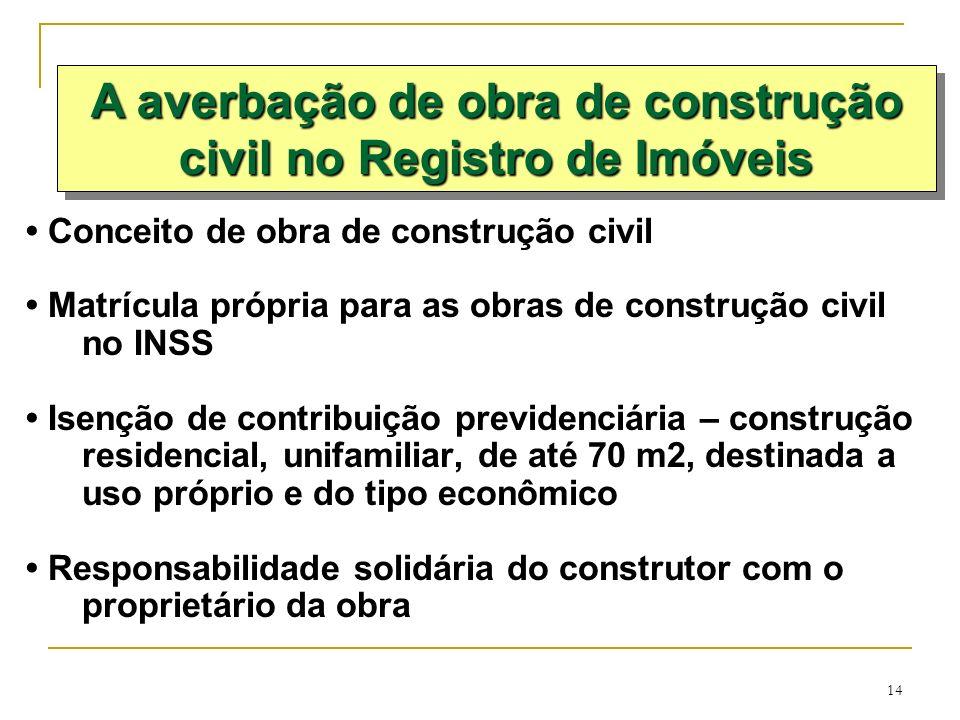 A averbação de obra de construção civil no Registro de Imóveis