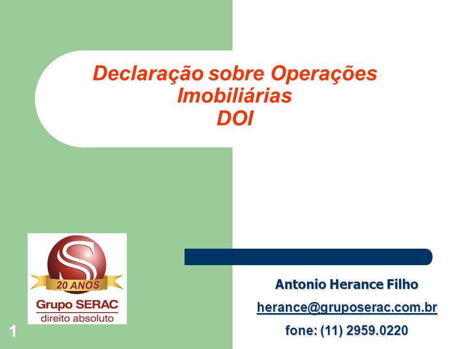 Declaração sobre Operações Imobiliárias DOI