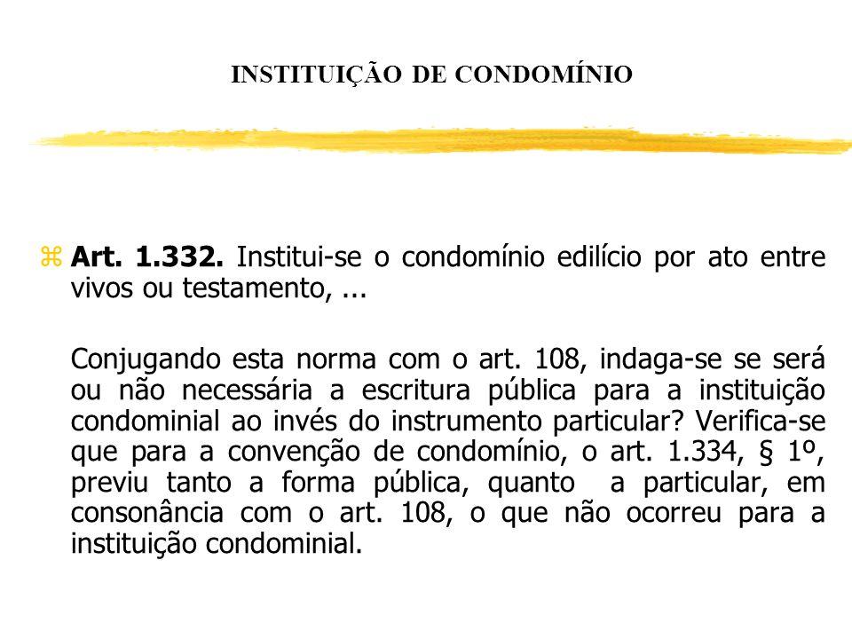 INSTITUIÇÃO DE CONDOMÍNIO