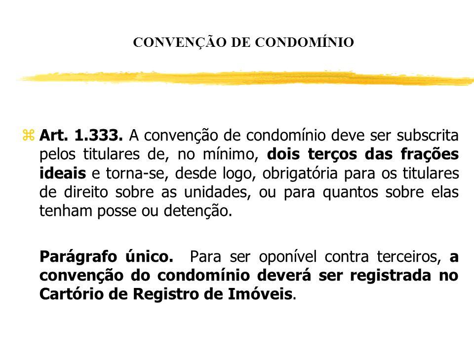 CONVENÇÃO DE CONDOMÍNIO