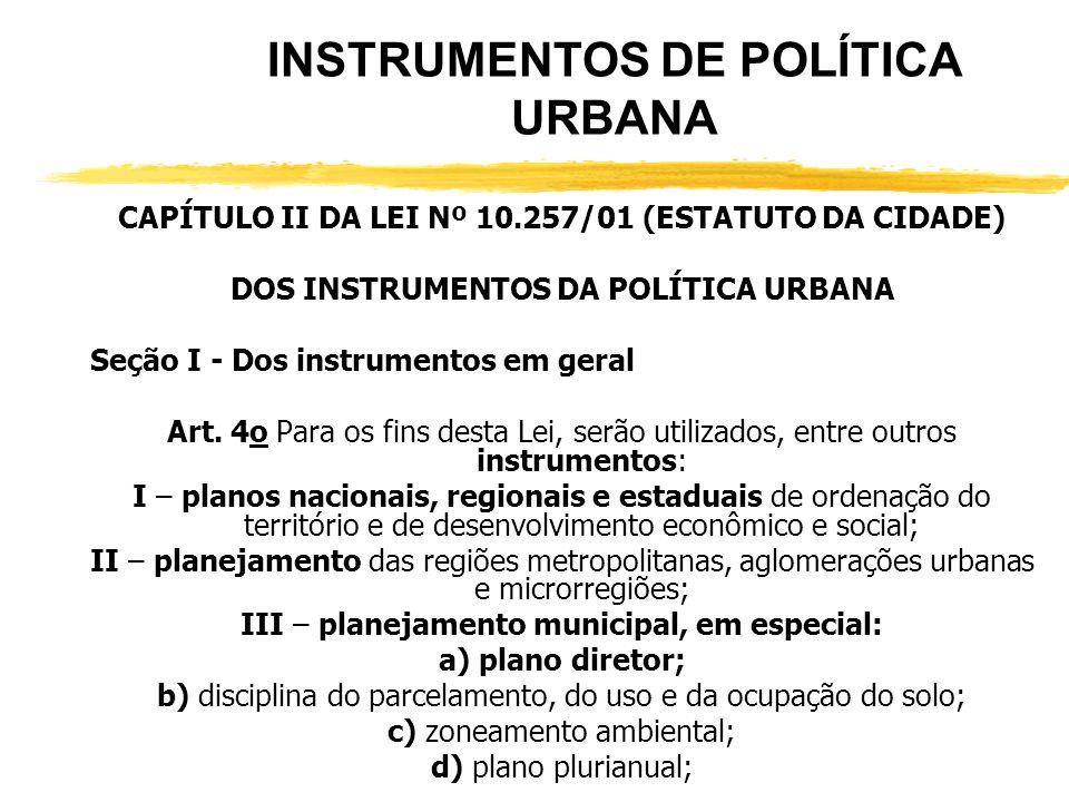 INSTRUMENTOS DE POLÍTICA URBANA