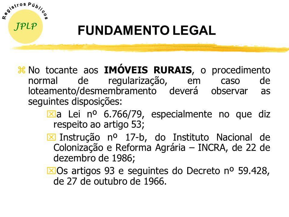 JPLP R e g i s t r o s P ú b l i c o s. FUNDAMENTO LEGAL.