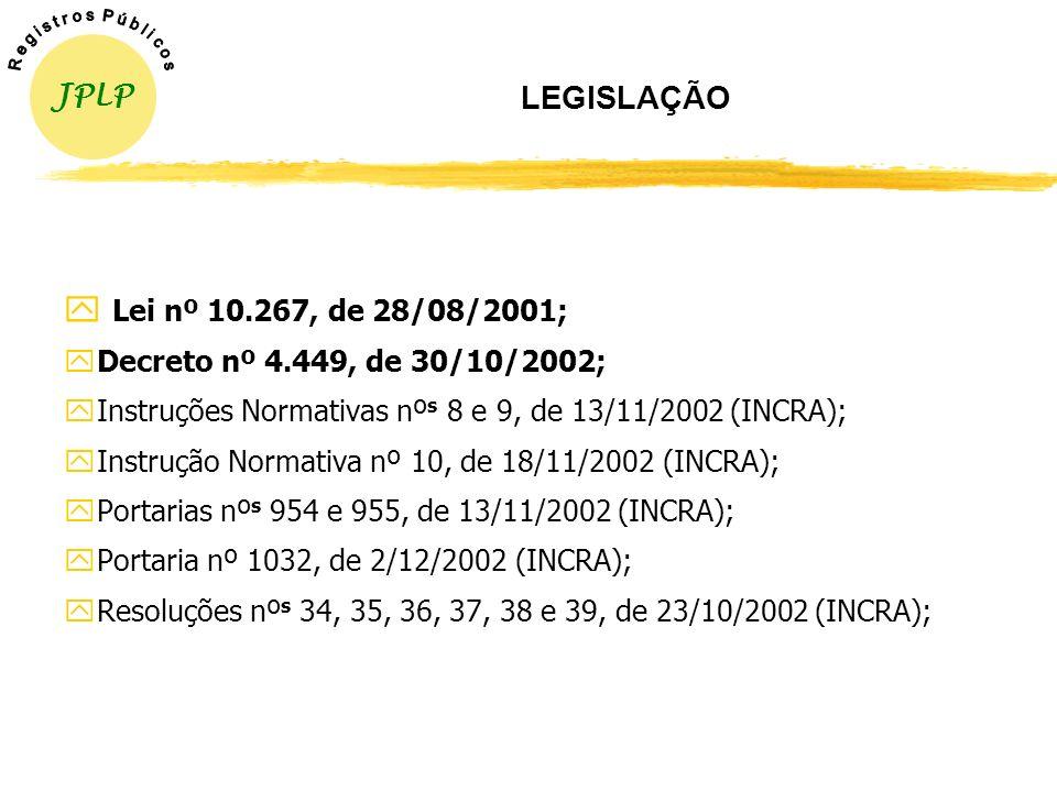 Lei nº 10.267, de 28/08/2001; LEGISLAÇÃO JPLP