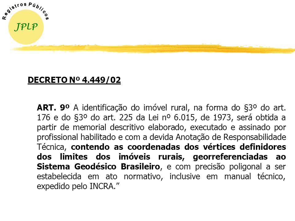 JPLP R e g i s t r o s P ú b l i c o s. DECRETO Nº 4.449/02.