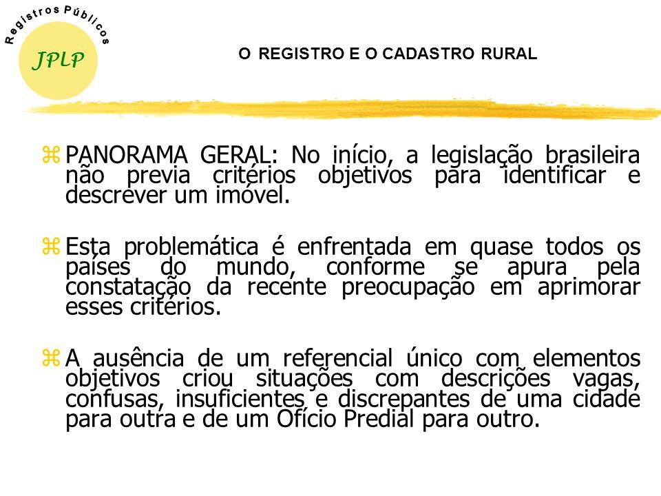 O REGISTRO E O CADASTRO RURAL