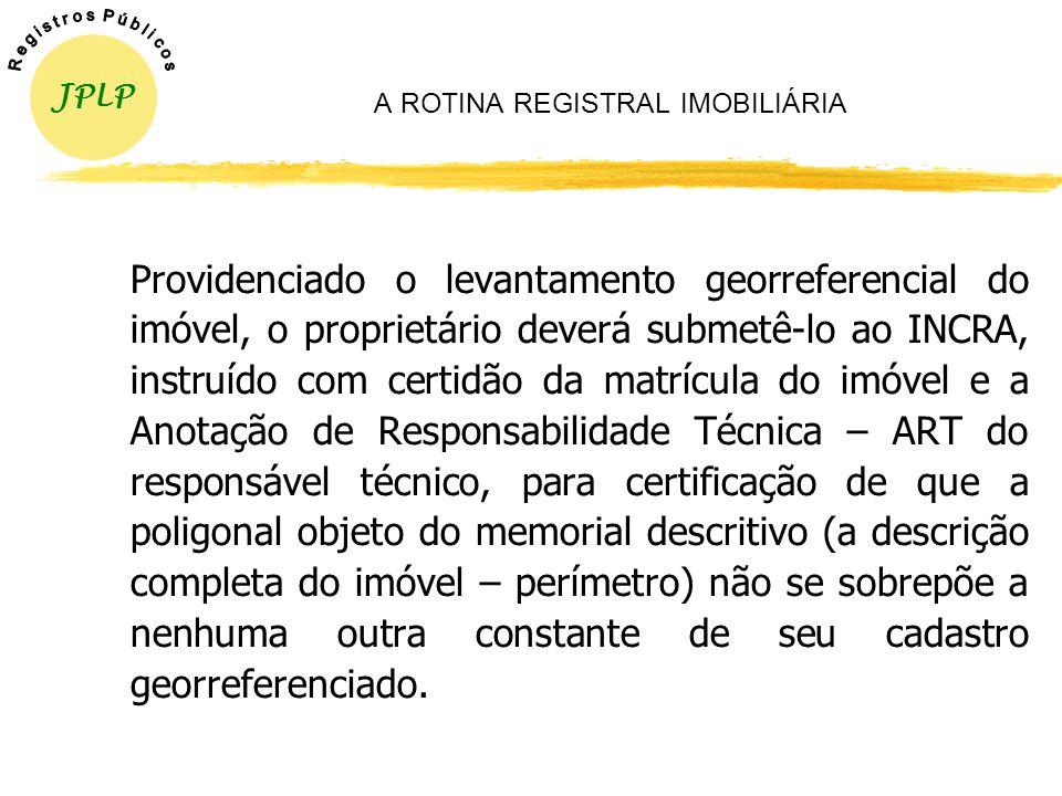 A ROTINA REGISTRAL IMOBILIÁRIA