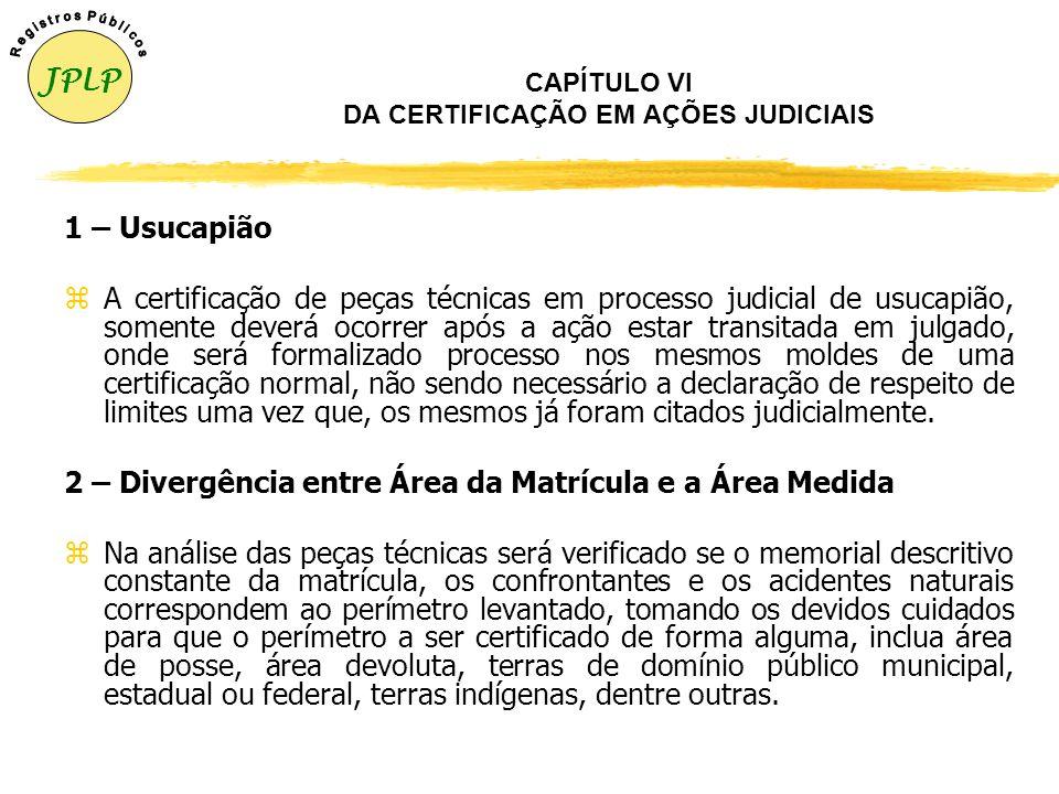 CAPÍTULO VI DA CERTIFICAÇÃO EM AÇÕES JUDICIAIS