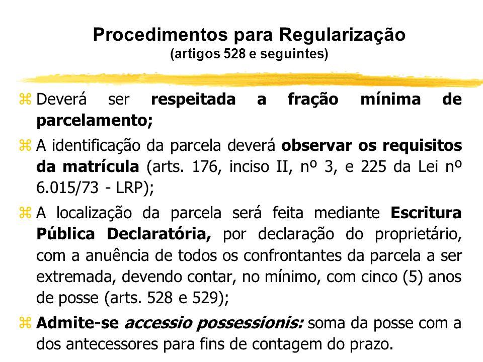 Procedimentos para Regularização (artigos 528 e seguintes)