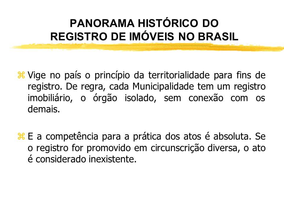 PANORAMA HISTÓRICO DO REGISTRO DE IMÓVEIS NO BRASIL