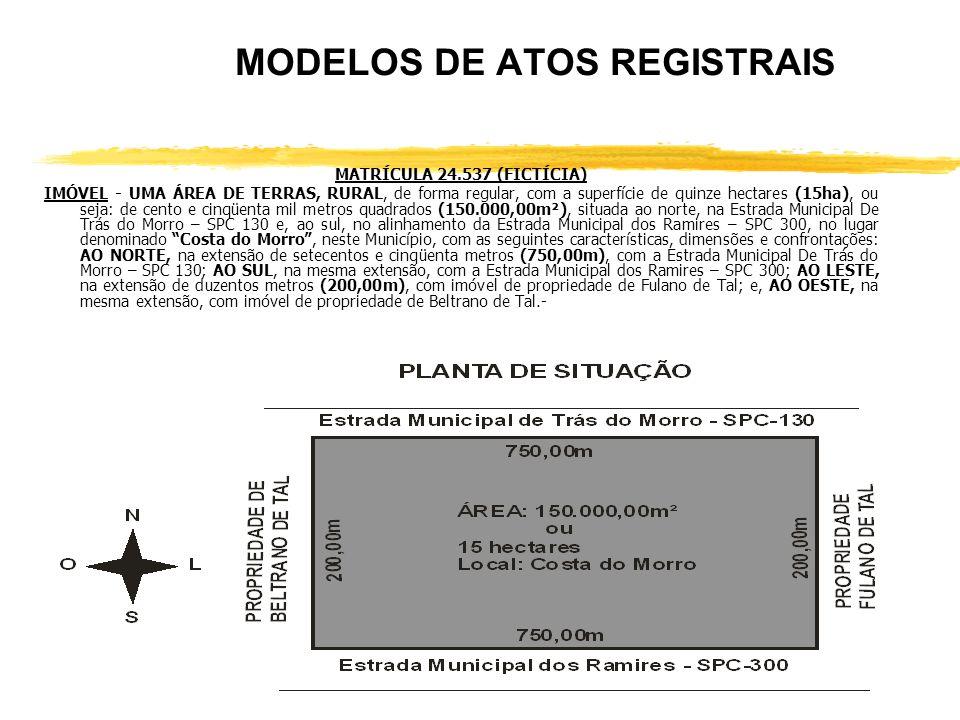 MODELOS DE ATOS REGISTRAIS