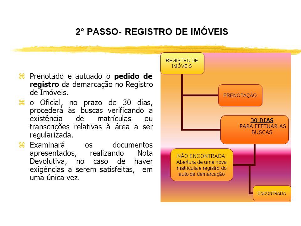 2° PASSO- REGISTRO DE IMÓVEIS