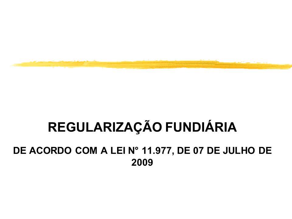 REGULARIZAÇÃO FUNDIÁRIA DE ACORDO COM A LEI N° 11