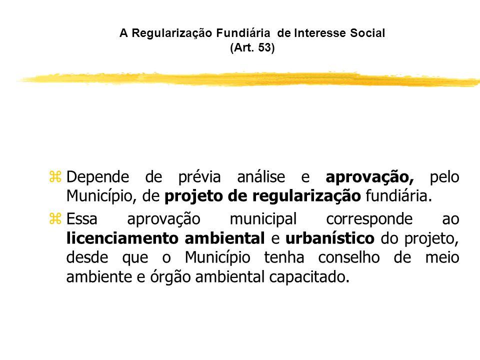 A Regularização Fundiária de Interesse Social (Art. 53)