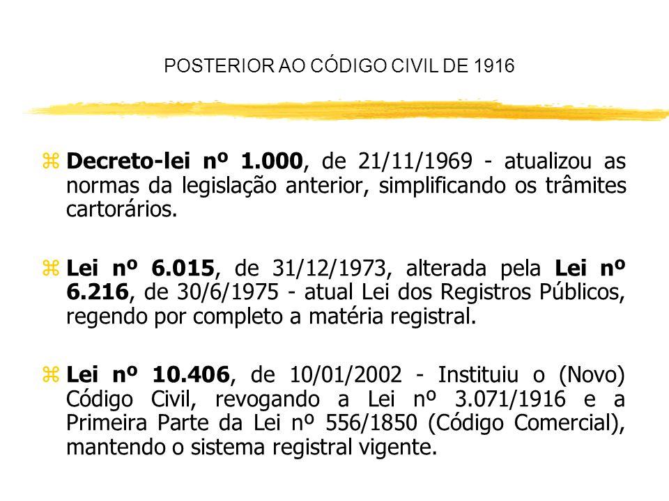 POSTERIOR AO CÓDIGO CIVIL DE 1916