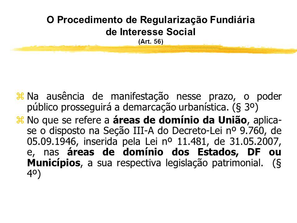 O Procedimento de Regularização Fundiária de Interesse Social (Art. 56)