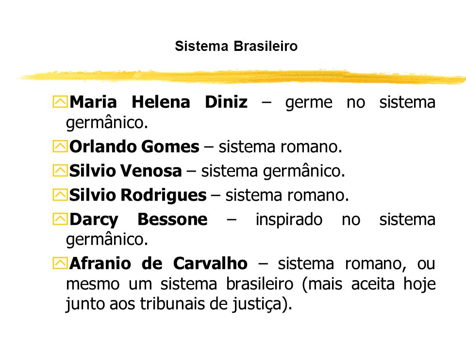 Maria Helena Diniz – germe no sistema germânico.