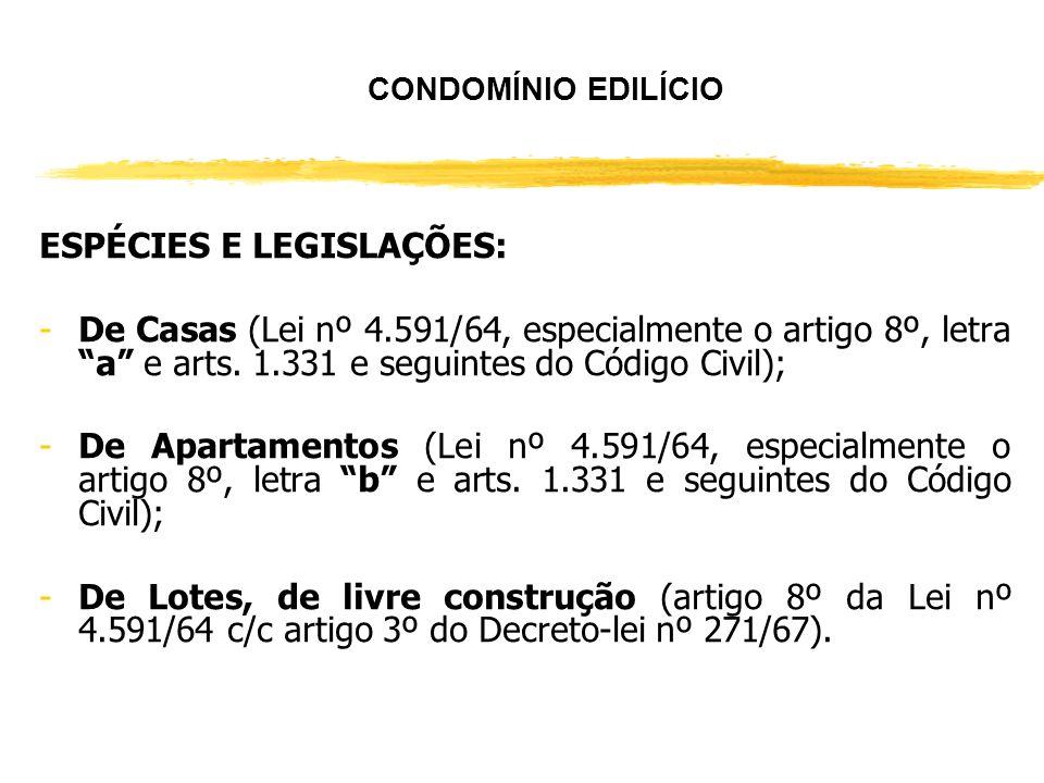 ESPÉCIES E LEGISLAÇÕES: