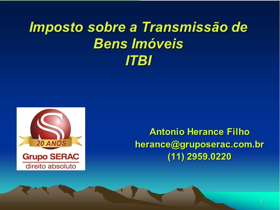 Imposto sobre a Transmissão de Bens Imóveis ITBI