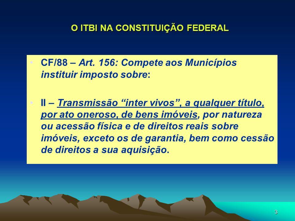 O ITBI NA CONSTITUIÇÃO FEDERAL