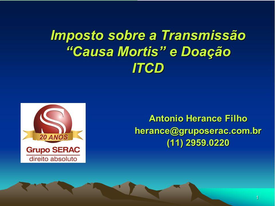 Imposto sobre a Transmissão Causa Mortis e Doação ITCD