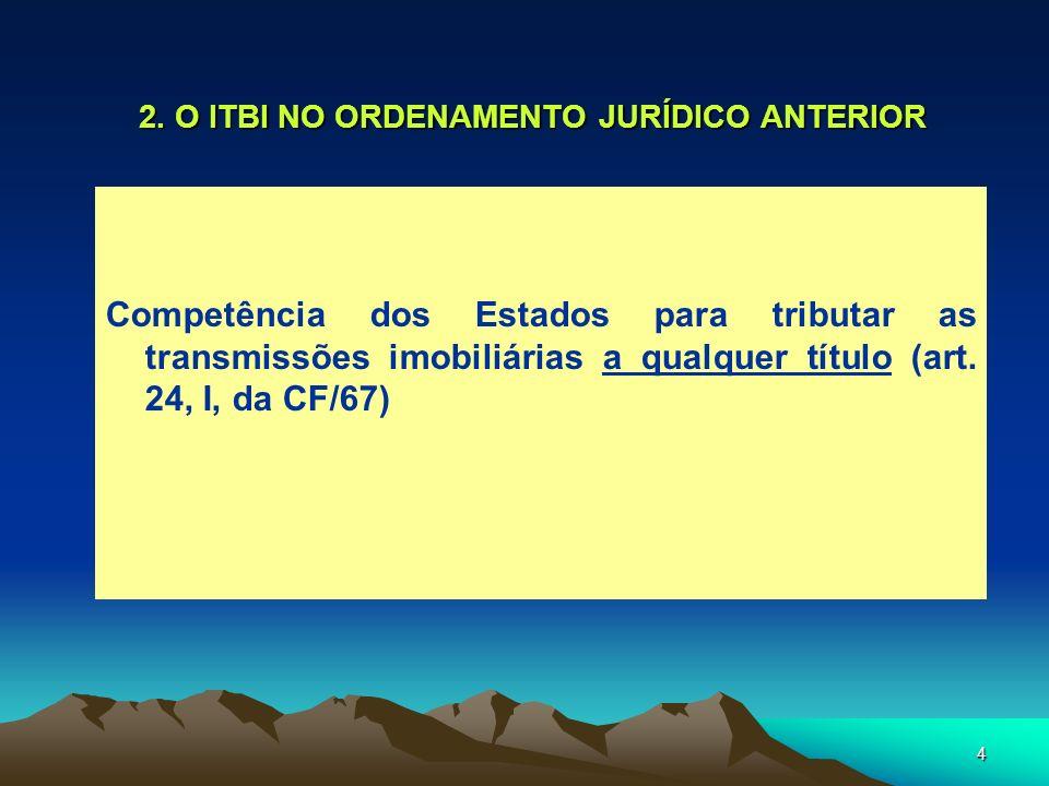 2. O ITBI NO ORDENAMENTO JURÍDICO ANTERIOR