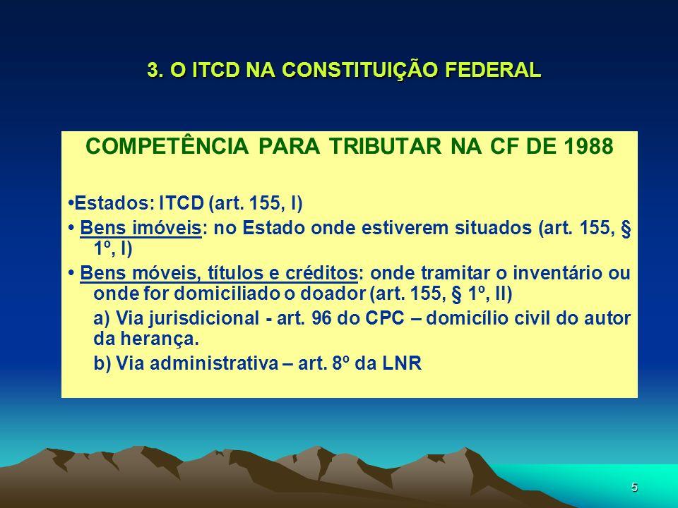 3. O ITCD NA CONSTITUIÇÃO FEDERAL