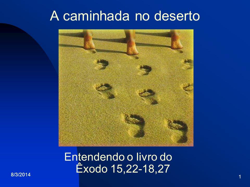 Entendendo o livro do Êxodo 15,22-18,27
