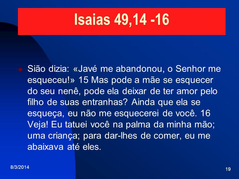Isaias 49,14 -16