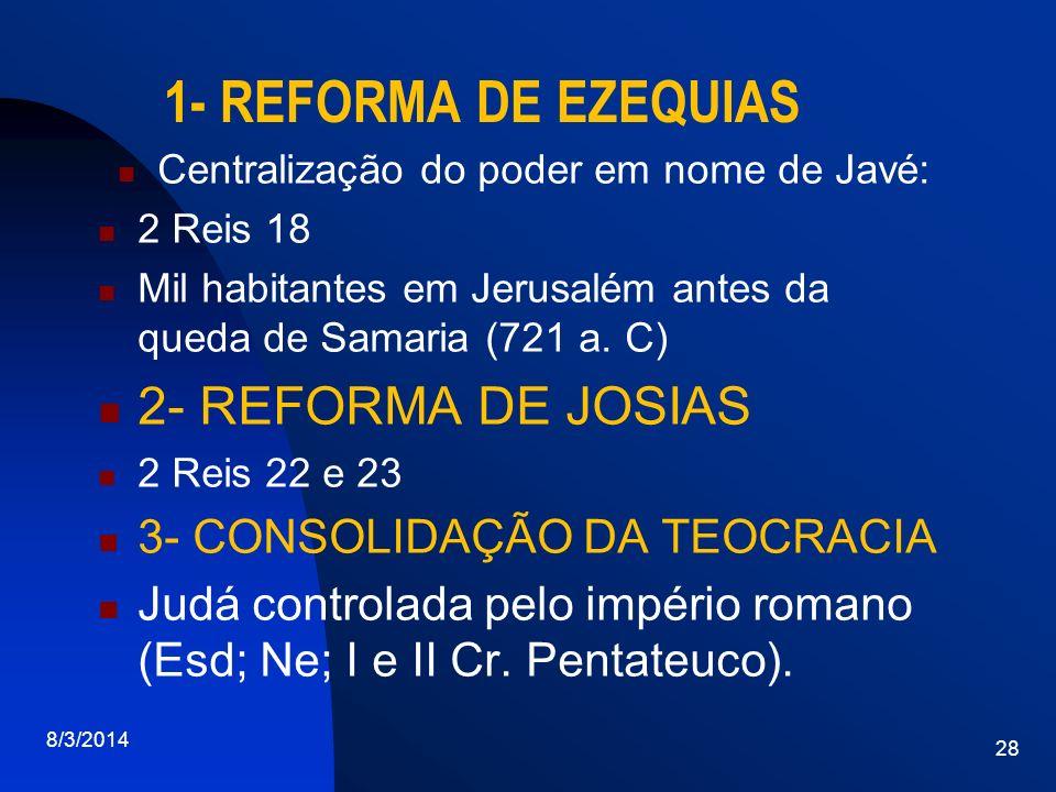 Centralização do poder em nome de Javé: