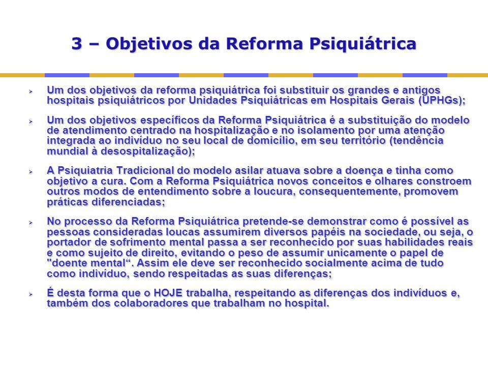 3 – Objetivos da Reforma Psiquiátrica