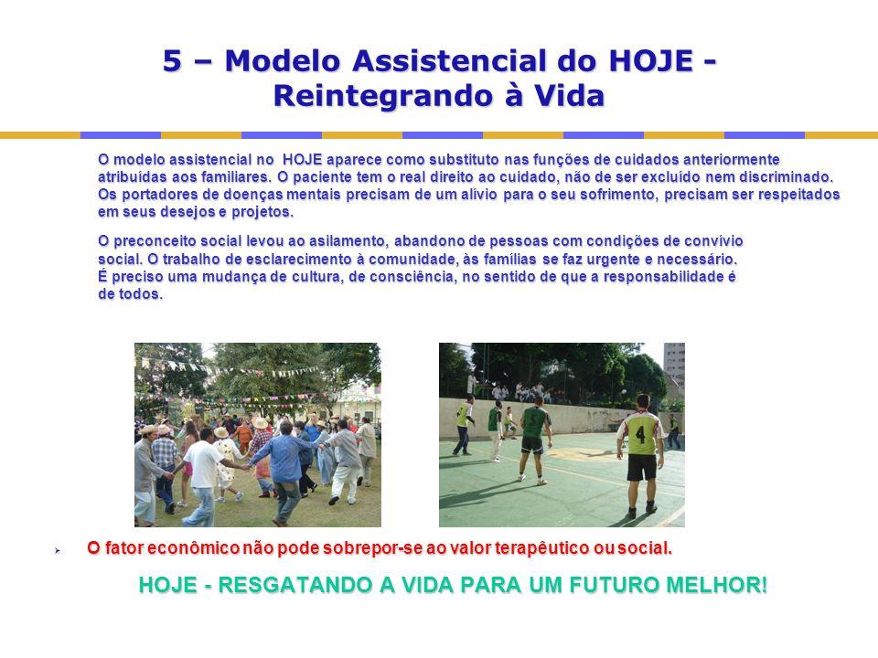 5 – Modelo Assistencial do HOJE - Reintegrando à Vida