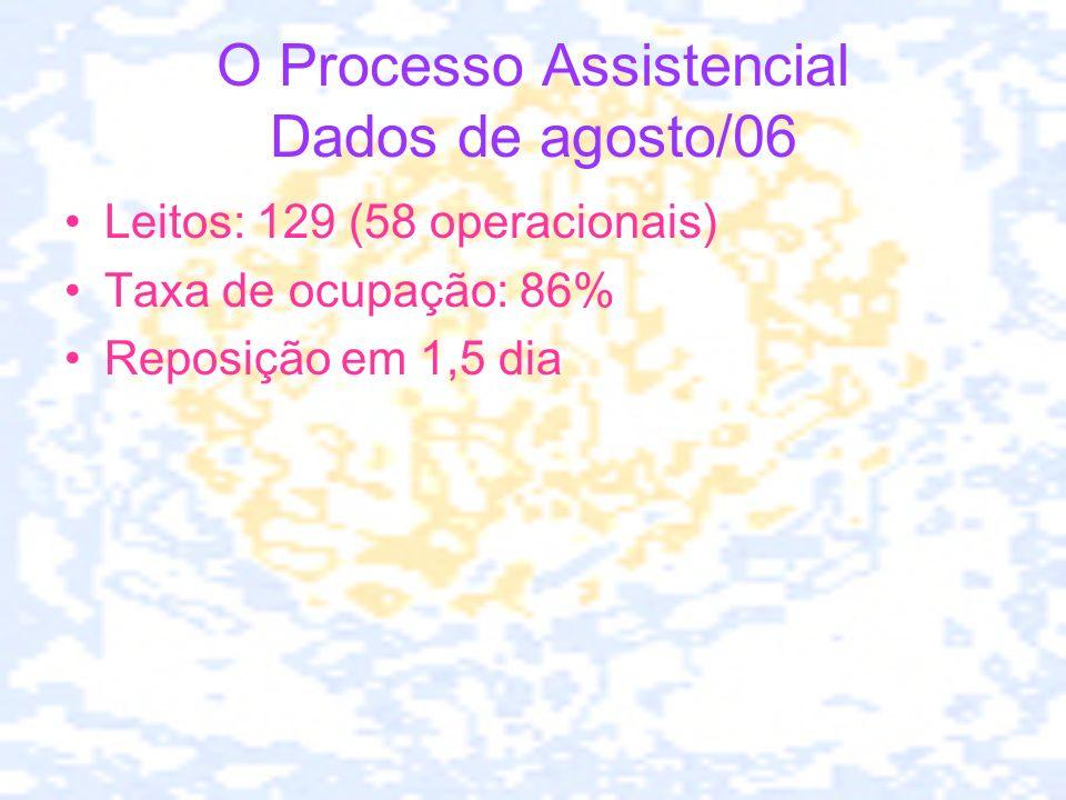 O Processo Assistencial Dados de agosto/06