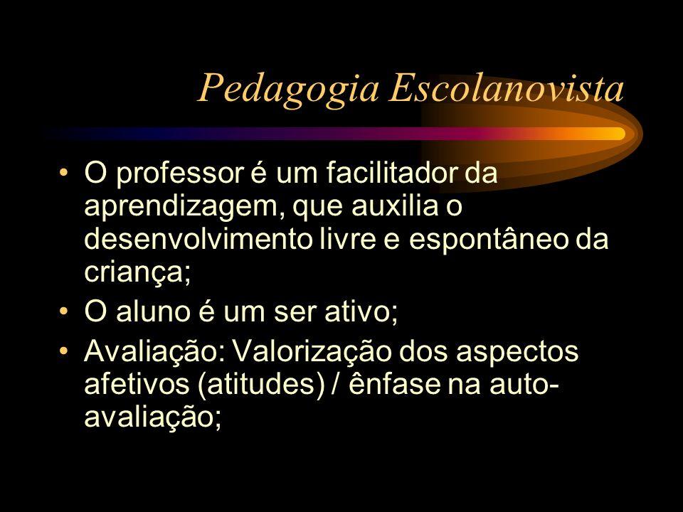 Pedagogia Escolanovista