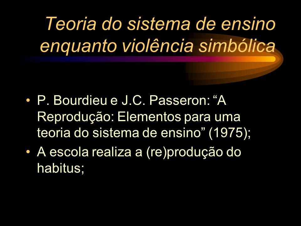 Teoria do sistema de ensino enquanto violência simbólica