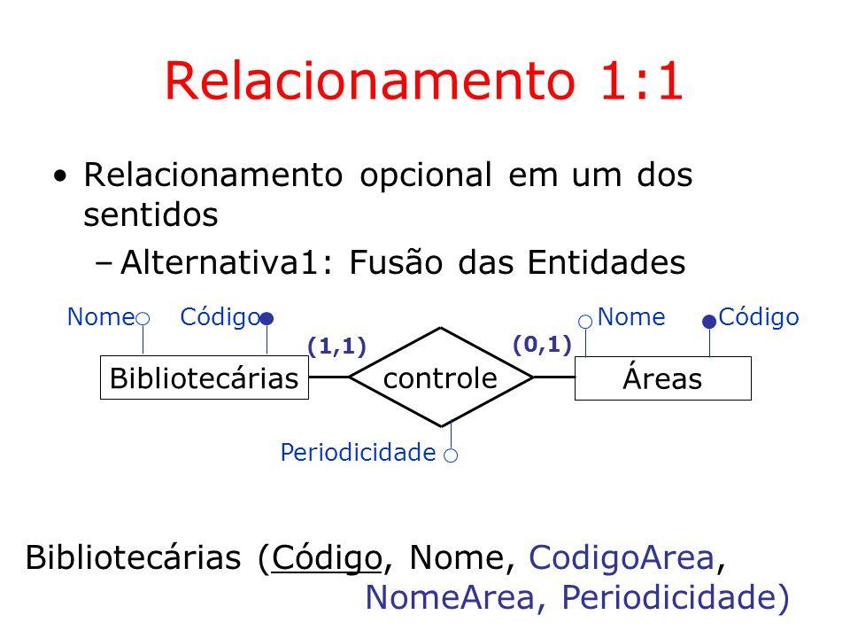 Relacionamento 1:1 Relacionamento opcional em um dos sentidos