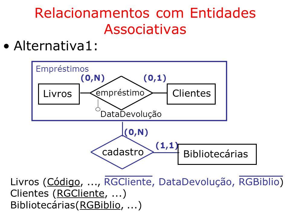 Relacionamentos com Entidades Associativas