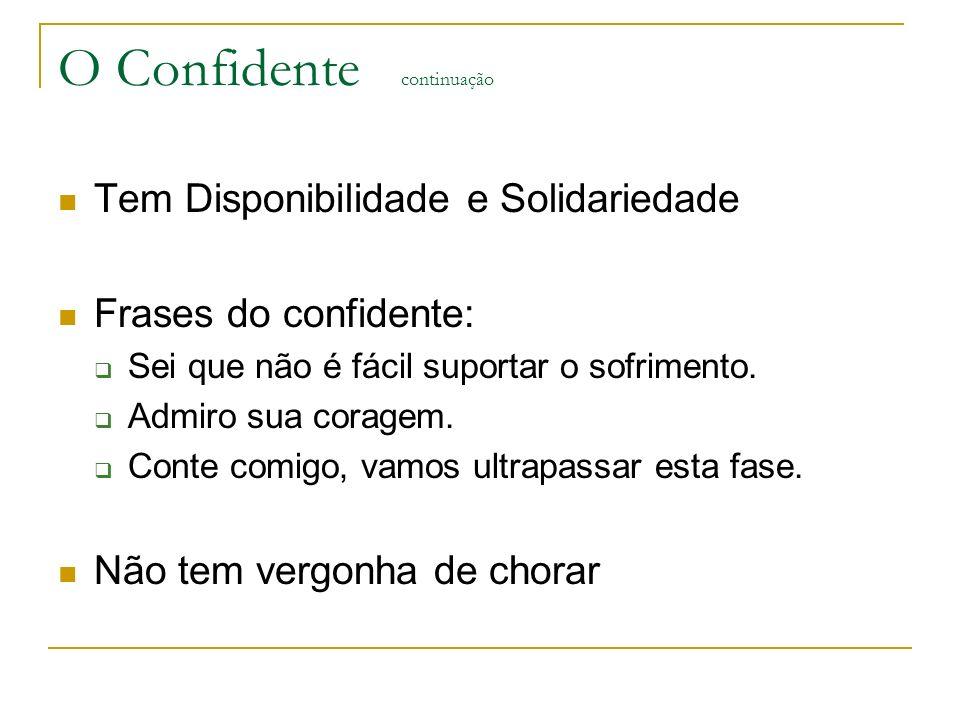 O Confidente continuação